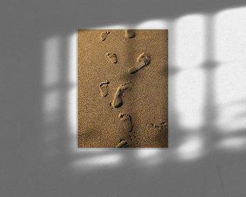 Voetprint in het zand