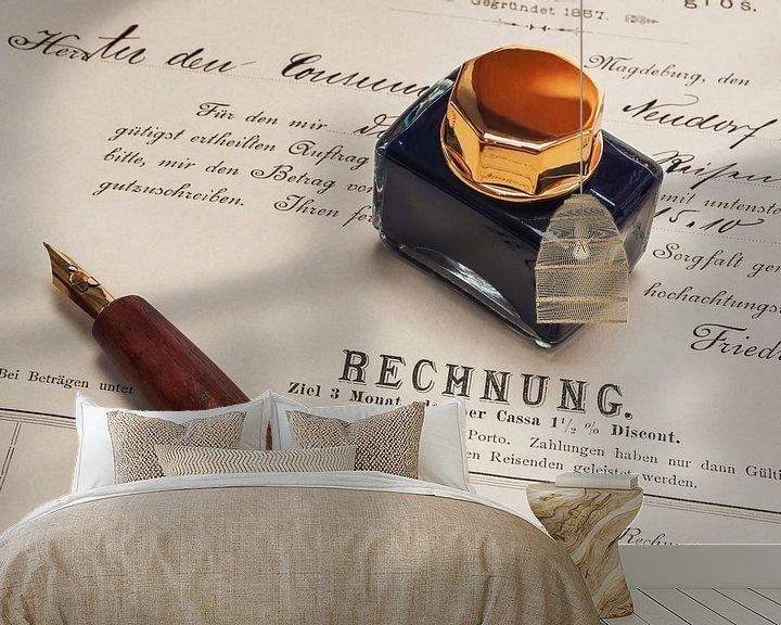 Sfeerimpressie behang: invoice van Gunter Kirsch