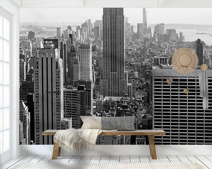Sfeerimpressie behang: new york city ... manhattan view I van Meleah Fotografie