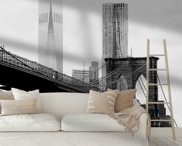 Beispiel fototapete: new york city ... brooklyn bridge II von Meleah Fotografie