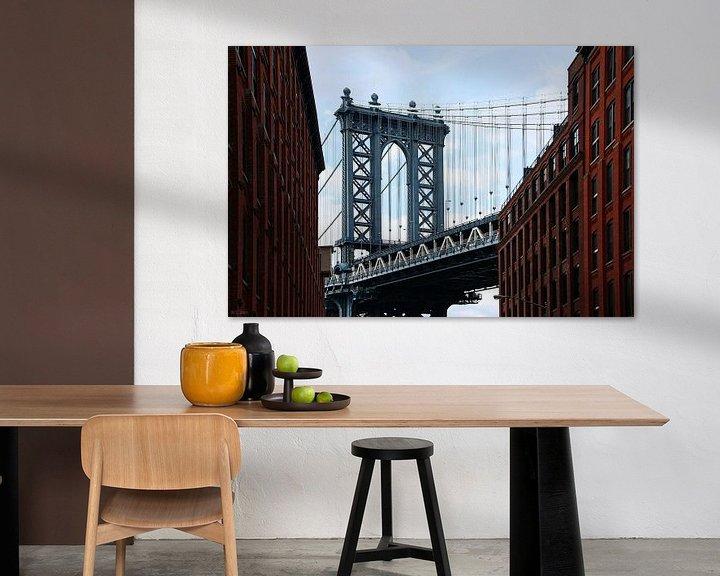 Sfeerimpressie: new york city... Manhattanbrug II van Meleah Fotografie