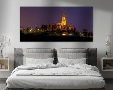 De Sint-Martinuskerk in Vijlen bij nacht von John Kreukniet