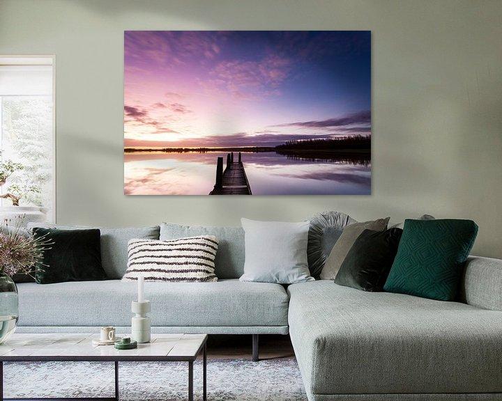 Sfeerimpressie: Zonsopkomst aan het Lauwersmeer van Ton Drijfhamer