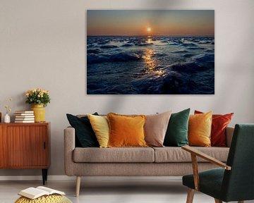 Bevroren Waddenzee van Bo Scheeringa Photography