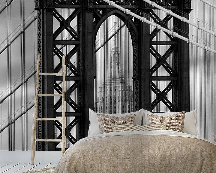 Beispiel fototapete: new york city ... manhattan bridge trilogy II von Meleah Fotografie