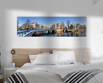 Amsterdam Grachten Panorama von Dennis van de Water