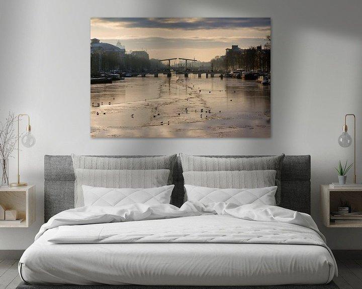 Sfeerimpressie: Winterse Magere brug van Dennis van de Water