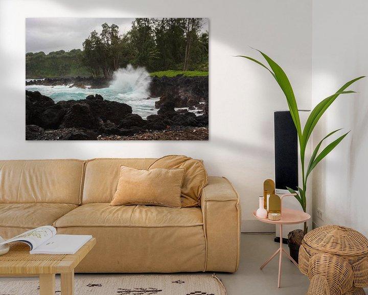 Impression: Crashing waves in Maui sur Louise Poortvliet