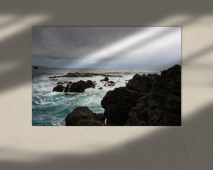 Impression: Rough coastline on Maui sur Louise Poortvliet