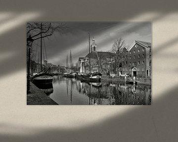 Schiedam-Zicht op Lange Haven (z.w.) sur Leo Huijzer