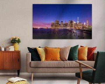 New York by Night 1 van Lex Scholten