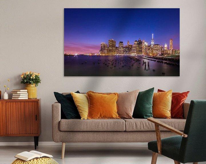 Sfeerimpressie: New York by Night 1 van Lex Scholten