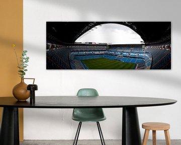 Stadion van Real Madrid in panorama van Thomas Poots