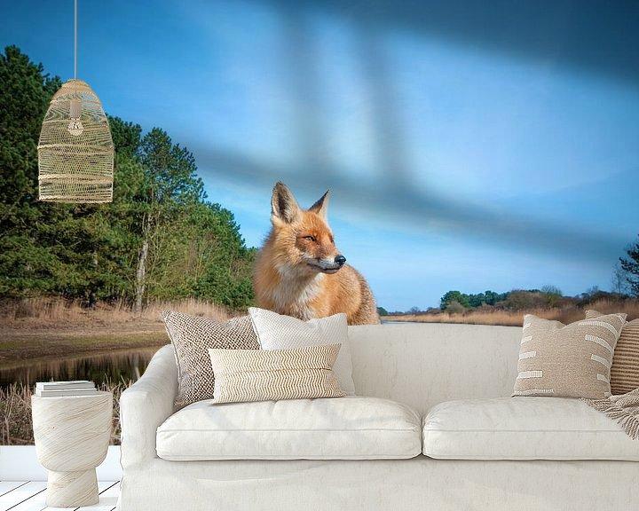 Sfeerimpressie behang: Nieuwsgierige vos van Lex Scholten