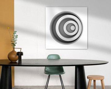 Excentric Circles Panel van Jörg Hausmann