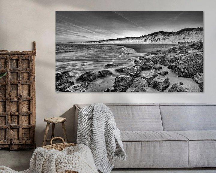Sfeerimpressie: Strand Brouwersdam aan de Noordzee, Zeeland van Rob van der Teen
