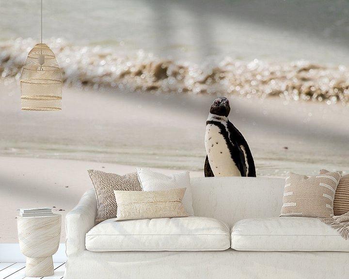 Sfeerimpressie behang: Pinguin van Jan van Kemenade