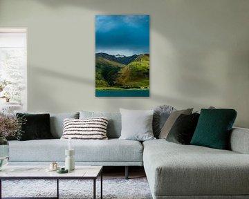 Paysage de montagne au lac Hawea en Nouvelle-Zélande