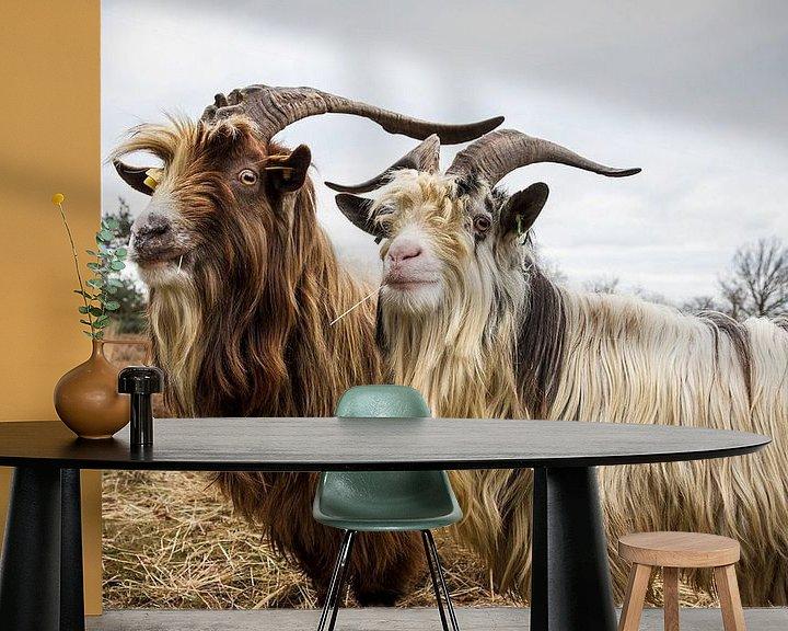 Sfeerimpressie behang: Landgeiten op de hei van Dennis van de Water
