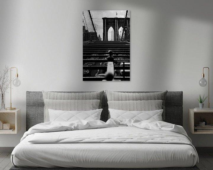 Sfeerimpressie: new york city ... brooklyn bridge IV van Meleah Fotografie