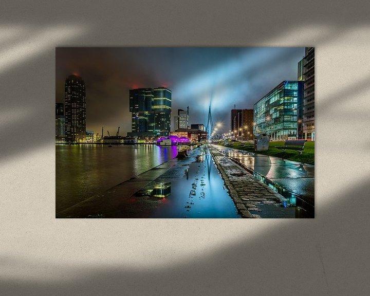 Sfeerimpressie: Regen in Rotterdam van Ellen van den Doel