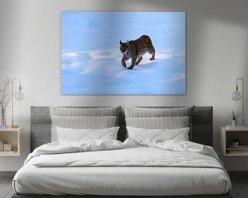 Lynx in de sneeuw van Antwan Janssen