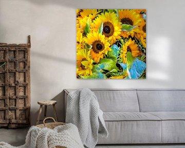 Zonnebloemen von Henk Ravenhorst