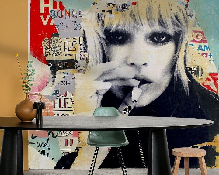 Beispiel fototapete: Kate Moss von Michiel Folkers