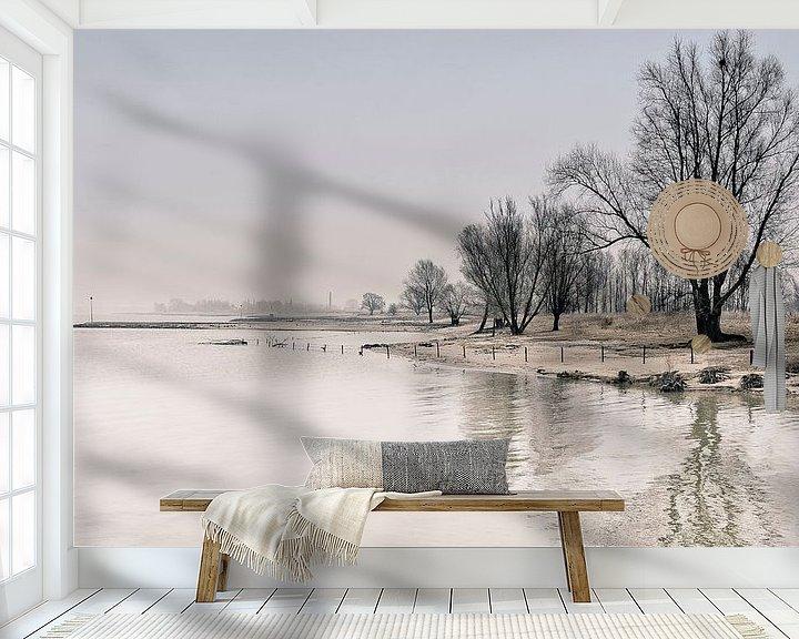 Sfeerimpressie behang: Winters nagloed van Peter Vruggink