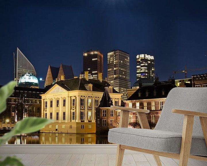 Beispiel fototapete: Full moon over The Hague von Remco Swiers