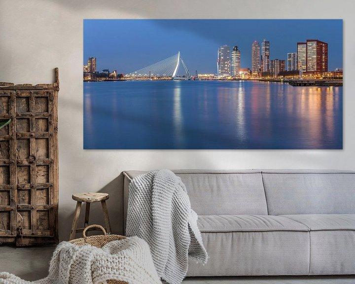 Sfeerimpressie: Rotterdam skyline panorama van Ilya Korzelius