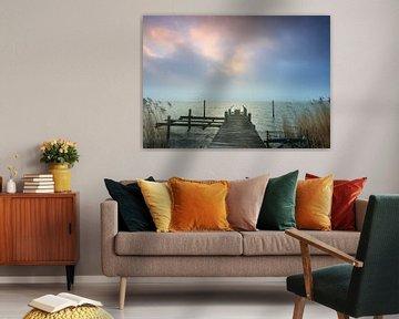 Steiger bij Durgerdam van Klaas Hollebeek
