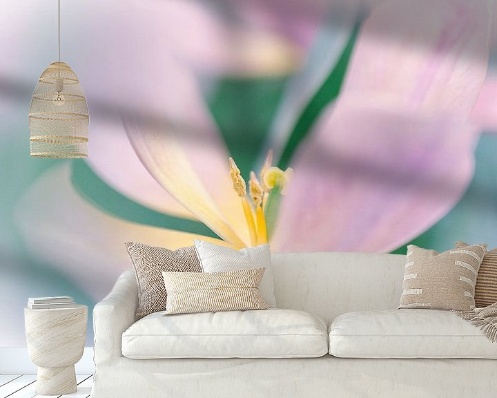 Sfeerimpressie behang: Tulp softfocus van Jeffry J.J van Berkum
