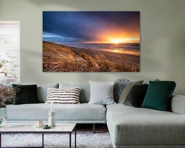 Stormy Sunset von Martijn Kort