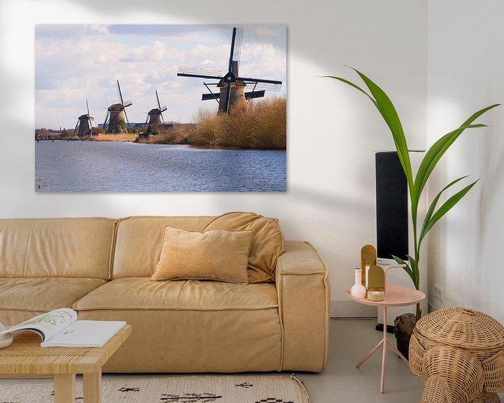 Sfeerimpressie: Rows Of Windmills van Brian Morgan