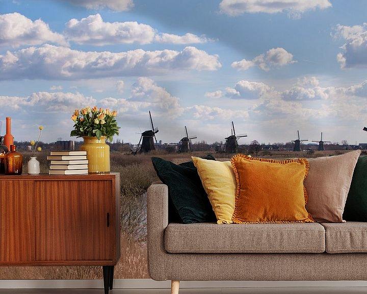 Sfeerimpressie behang: Dutch Landscape van Brian Morgan