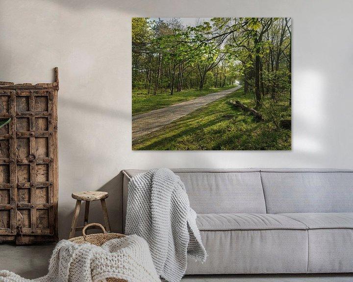Sfeerimpressie: Fietspad door het bos van Bastiaan Schuit