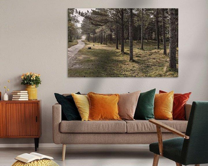 Sfeerimpressie: De weg door het bos van Bastiaan Schuit