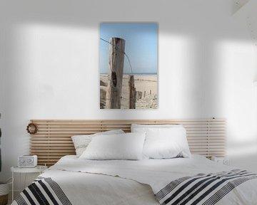 Hekwerk aan het strand van Marit Visser