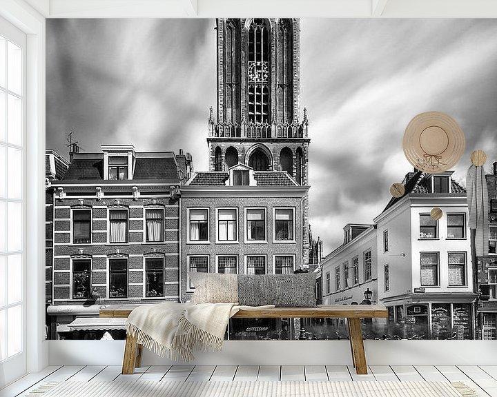 Beispiel fototapete: Dom-Turm und Maartensbrug. (Langzeitbelichtung), Utrecht. von John Verbruggen