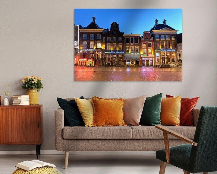 Sfeerimpressie: Zuidwand Grote Markt Groningen van Frenk Volt