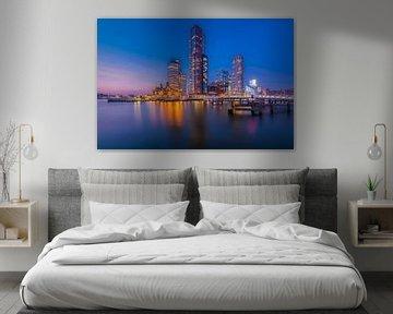Kop van Zuid - Blaue Stunde von Prachtig Rotterdam