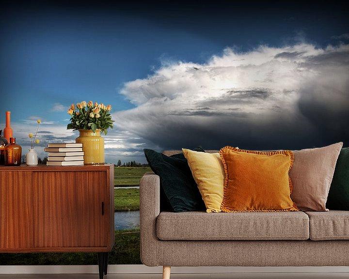 Sfeerimpressie behang: Wolken van Eus Driessen