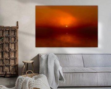 Foggy Sunrise 'Red' sur William Mevissen