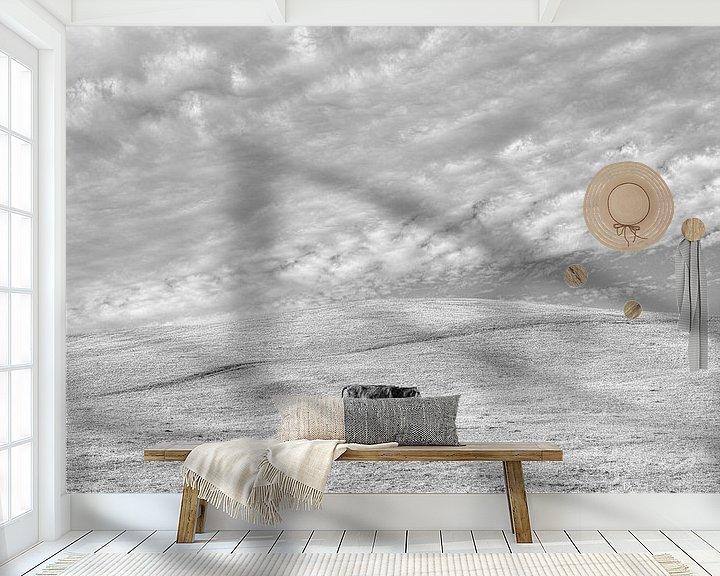 Sfeerimpressie behang: Eenzame koe van Bastiaan Schuit