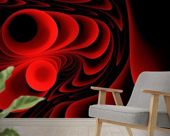 Sfeerimpressie behang: Melody in rood van Max Steinwald