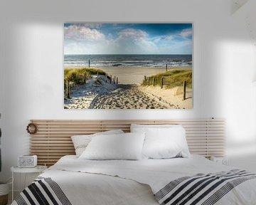 Manier in de duinen naar het strand van Peter Roder