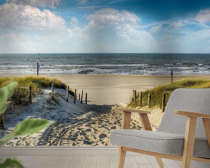 Sfeerimpressie behang: Manier in de duinen naar het strand van Peter Roder