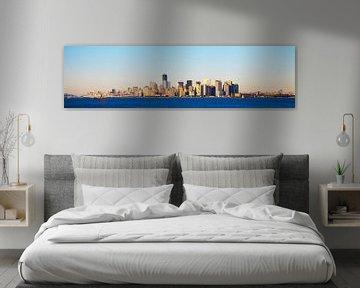 Manhattan Skyline van Joran Maaswinkel