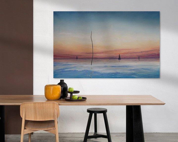 Sfeerimpressie: Een windstille zomeravond op het Wad van Bert Oosthout